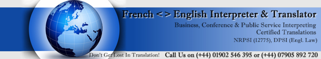 French  English Interpreter & Translator